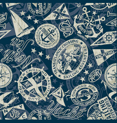 nautical style marine sailing badges wallpaper vector image