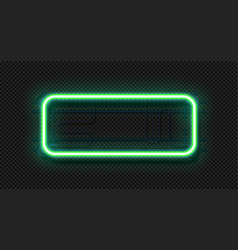 neon rectangle lamp realistic signboard template vector image