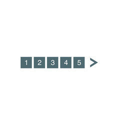 pagination bar set electronic pages for web site vector image