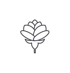 peony line icon concept peony flat sign vector image