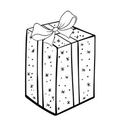 present box coloring book vector image