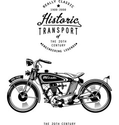 retro motorcycle with logo monogram graphic vector image