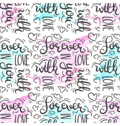 Romantic quote seamless pattern Love text print vector image