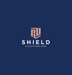 ru shield logo vector image
