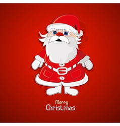 Santa Claus on red background vector image