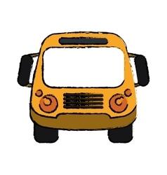 School bus student transport sketch vector