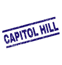 Scratched textured capitol hill stamp seal vector
