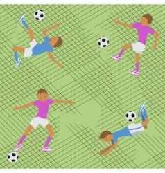 Seamless pattern soccer match vector image
