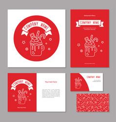 set corporate branding christmas sweet drink vector image