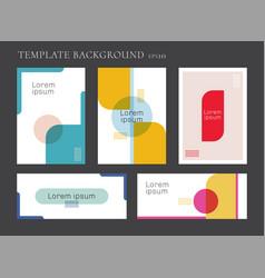 set modern template brochure banner geometric vector image
