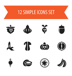 Set of 12 editable kitchenware icons includes vector