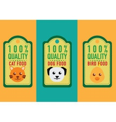 set of healthy pet food labels and stickers vector image