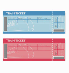 Set of Train Tickets Isolated on White vector image