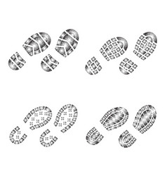 Shoes print set vector