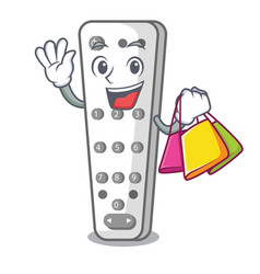 Shopping cartoon infrared remote control for tv vector