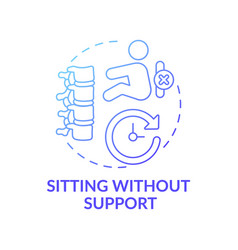 Sitting without support dark blue gradient vector