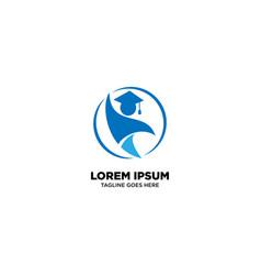 Student education logo design vector