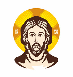 the face of the lord and savior jesus christ vector image
