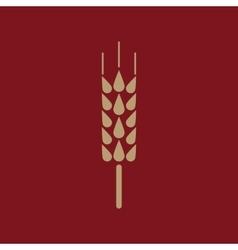 The spica icon wheat symbol flat vector