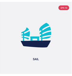 two color sail icon from asian concept isolated vector image
