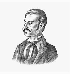victorian gentlemen elegant antique man ancient vector image
