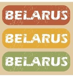 Vintage Belarus stamp set vector image
