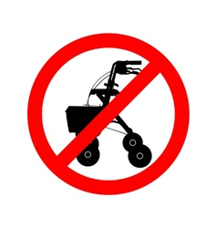 Walking frame prohibited vector
