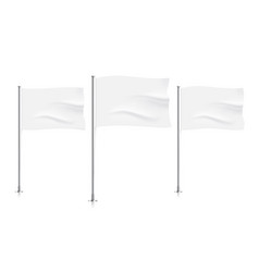 waving white flags vector image