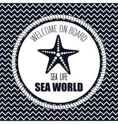 welcome on board starfish sea vector image