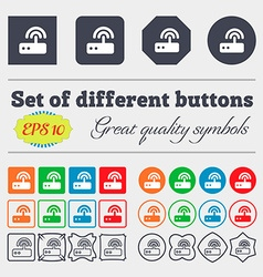 Wi fi router icon sign Big set of colorful diverse vector image