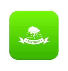 wind energy icon green vector image