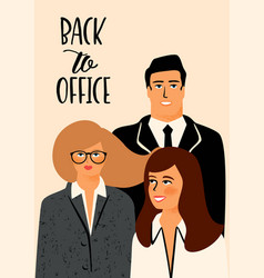 with office workers vector image