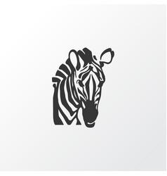 Zebra icon symbol premium quality isolated horse vector
