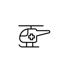 ambulance helicopter icon on white background vector image vector image