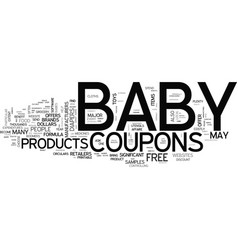 baby coupons text word cloud concept vector image