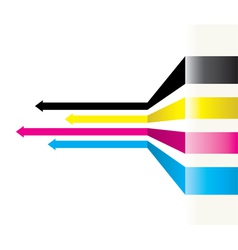 cmyk arrows vector image vector image