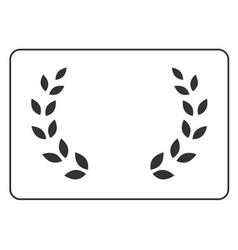 Laurel wreath icon border 16 vector image vector image