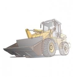 loader / digger illustration vector image vector image