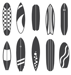 Outline Surfing Board Icons vector image vector image