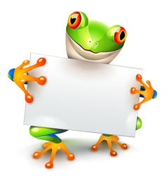 Tree frog message vector image vector image