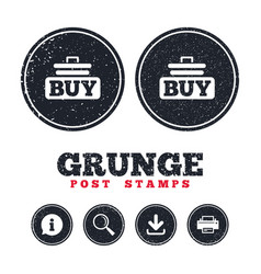 buy sign icon online buying cart button vector image