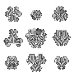 celtic decoration design elements vector image