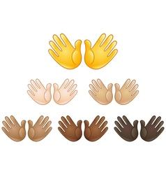 open hands sign emoji vector image