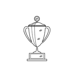 outline of trophy cup vector image vector image