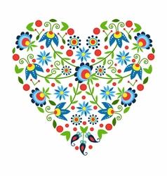 Polish folk heart vector