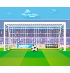 ball at gates on stadium vector image