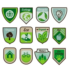green labels and stickers vector image