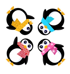 group of penguins vector image