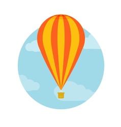 Hot air balloon flying vector image vector image