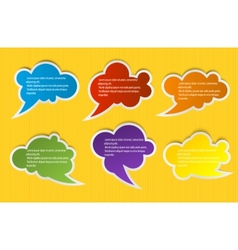 Speech color bubbles set for design vector image